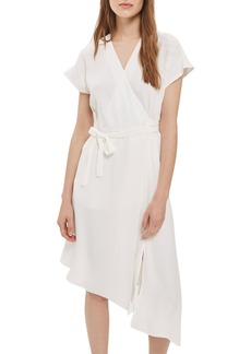 Topshop Asymmetrical Wrap Midi Dress