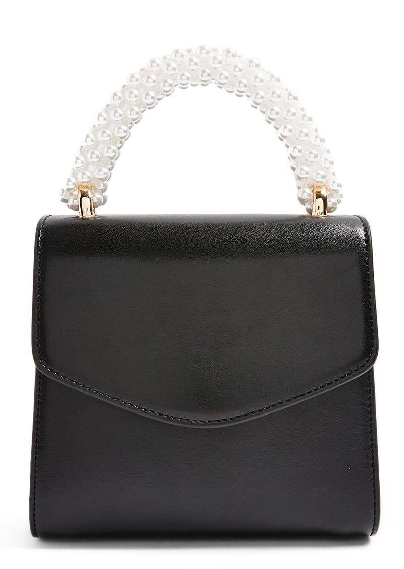 Topshop Aurora Imitation Pearl Faux Leather Handbag