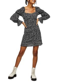 Topshop Mesh Tea Dress