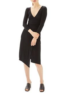 Topshop Back Cutout Wrap Midi Dress