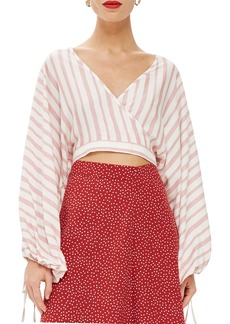 Topshop Balloon Sleeve Crop Top