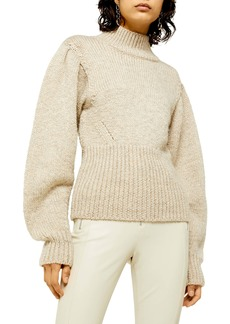 Topshop Banana Sleeve Funnel Neck Sweater