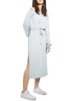 Topshop Bardot Blouson Midi Dress