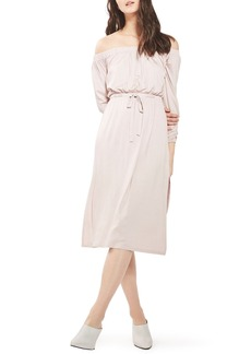 Topshop Bardot Blouson Midi Dress