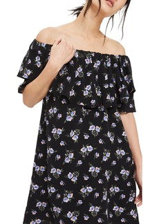 Topshop Bardot Floral Minidress