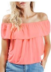 Topshop 'Bardot' Off the Shoulder Blouse