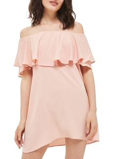 Topshop Bardot Popover Shift Dress