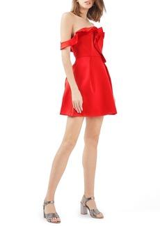 Topshop Bardot Ruffle Minidress