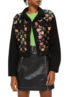 Topshop Barry Sequin Shirt Jacket