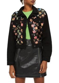 Topshop Barry Sequin Shirt Jacket