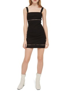Topshop Bead Trim Body-Con Dress