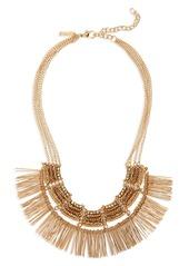 Topshop Beaded Fringe Collar Necklace