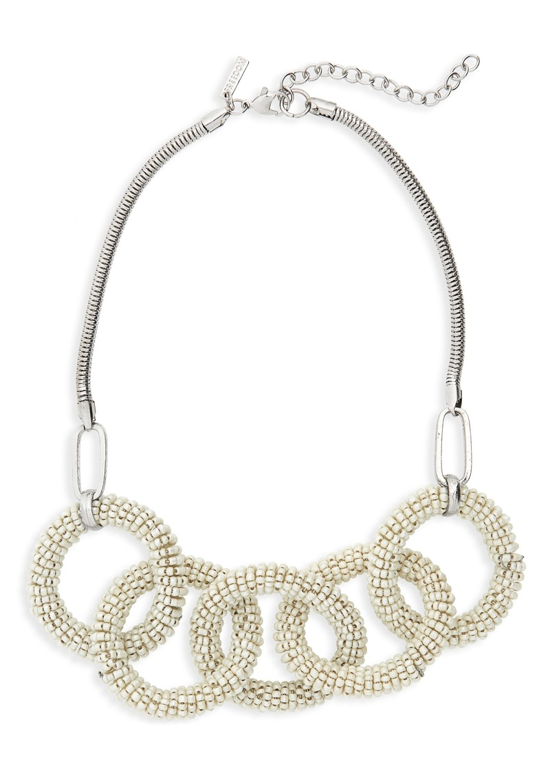 Topshop Beaded Links Collar Necklace