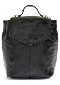Topshop Beck Faux Leather Backpack