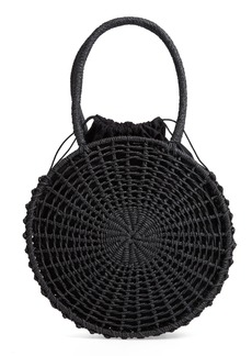 Topshop Bella Straw Circle Tote Handbag
