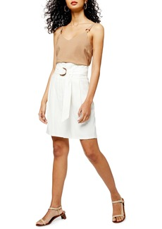 Topshop Belted City Shorts