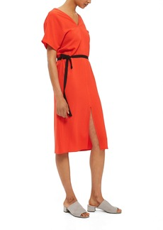 Topshop Belted Midi Dress