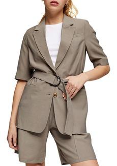 Topshop Belted Short Sleeve Blazer (Petite)
