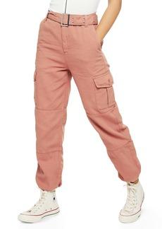 Topshop Belted Utility Jogger Pants