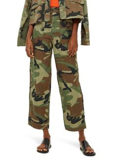 Topshop Benny Camo Crop Cotton Trousers (Regular & Petite)