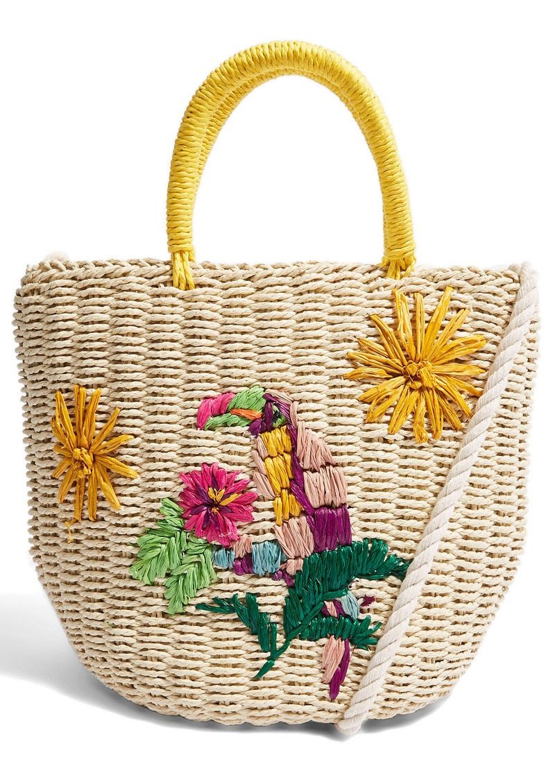 Top Betsy Toucan Straw Bag