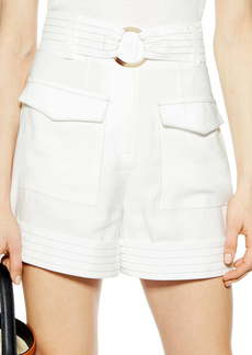 Topshop Betty Satin Utility Shorts