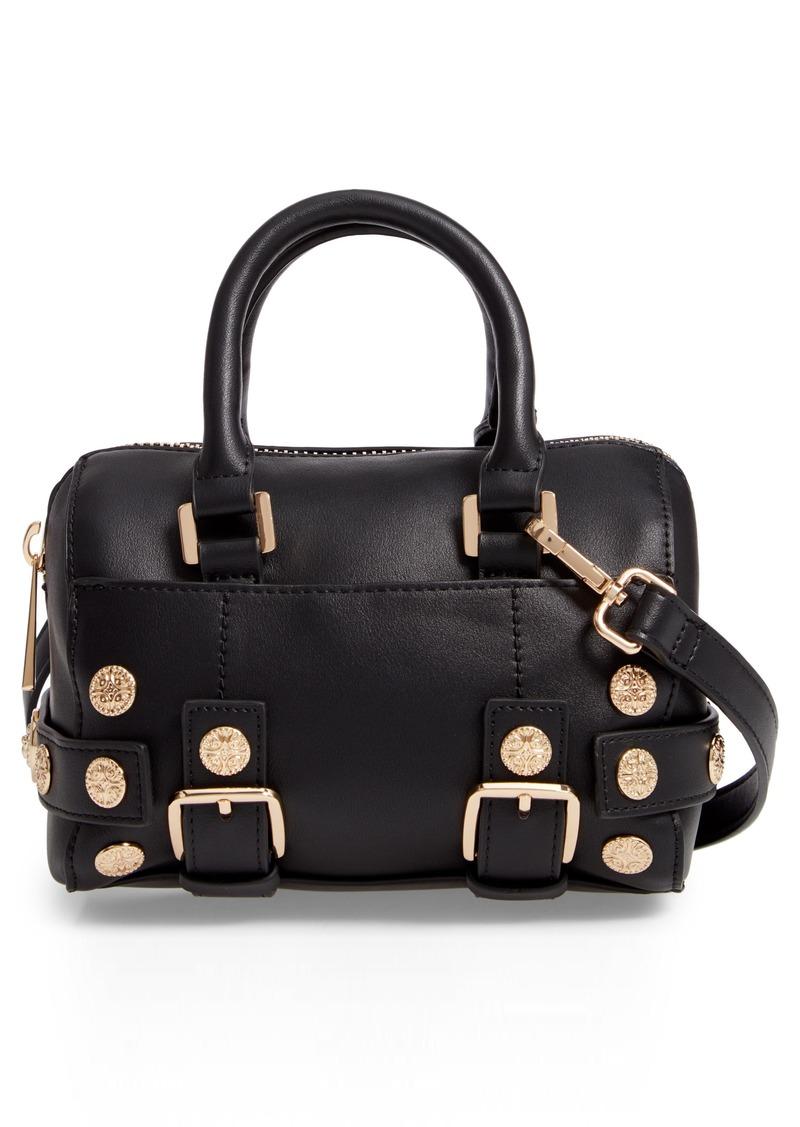 Topshop Topshop Bianca Studded Faux Leather Bowler Bag c311dfddb1c17