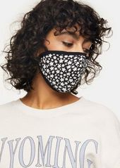 Topshop black and white star print fashion face mask
