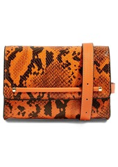 Topshop Blair Snake Embossed Faux Leather Belt Bag