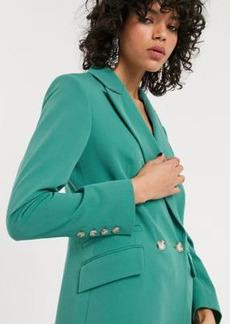 Topshop blazer in mint two-piece