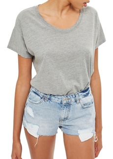 Topshop Bleach Cory Cutoff Denim Shorts
