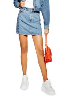 Topshop Block Denim Miniskirt