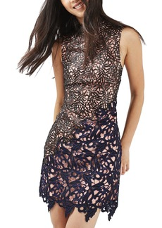Topshop Block Lace Dress