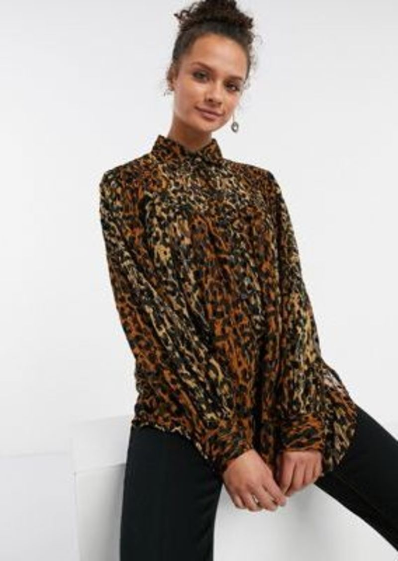 Topshop blouse in brown
