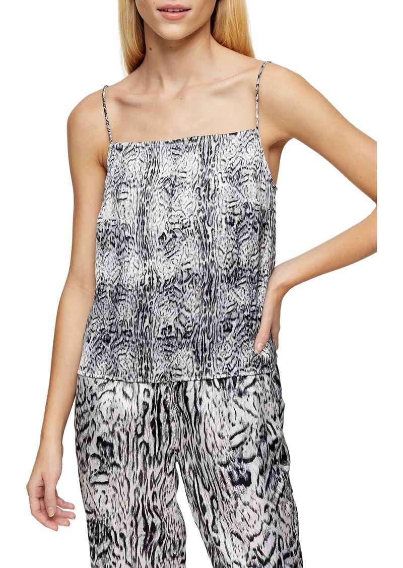 Topshop Blur Animal Print Pajama Camisole