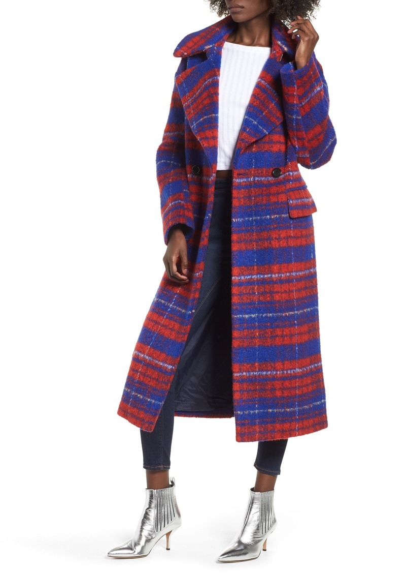 Topshop Bodika Check Coat
