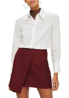 Topshop Bonded Raw Edge Skirt