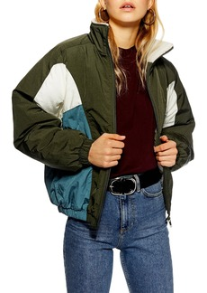 Topshop Borg Windbreaker Jacket