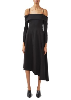 Topshop Boutique Bardot Wool Blend Dress