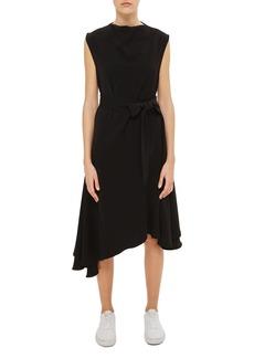 Topshop Boutique Belted Godet Midi Dress