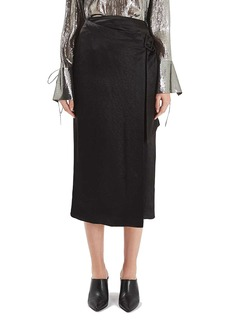 Topshop Boutique Buckle Wrap Skirt