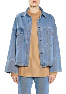 Topshop Boutique Deep Cuff Denim Jacket
