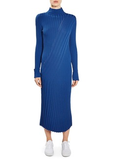 Topshop Boutique Directional Ribbed Midi Dress