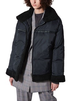 Topshop Boutique Fleece Lined Puffer Jacket