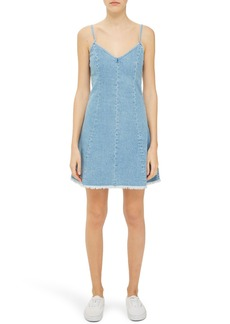 Topshop Boutique Lace-Up Denim Slipdress