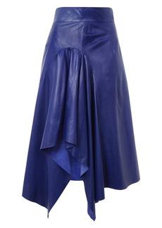 Topshop Boutique Leather Godet Skirt