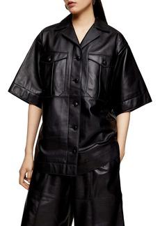 Topshop Boutique Leather Shirt