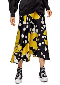 Topshop Boutique Lily Print Midi Skirt