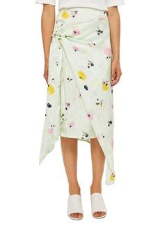 Topshop Boutique Marble Bloom Print Sash Skirt