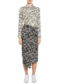 Topshop Boutique Mixed Faces Silk Dress